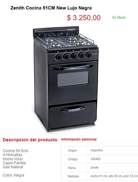 Cat logo rod electrodom sticos online precios y ofertas for Precio de cocinas baratas