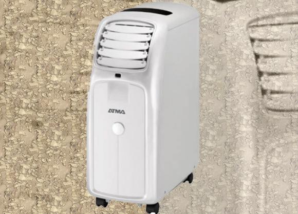 Práctico aire acondicionado Atma Portátil