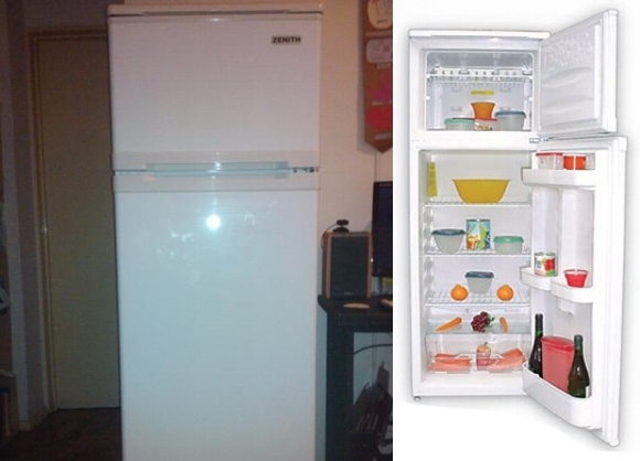 Heladeras con freezer Zenith blancas