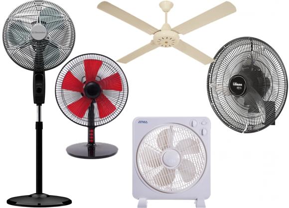 Rodó ventiladores de varios tipos